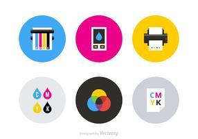 Stampa di icone vettoriali