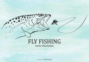 Illustrazione vettoriale di pesca a mosca libera