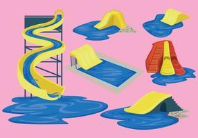 vettore di scivolo d'acqua