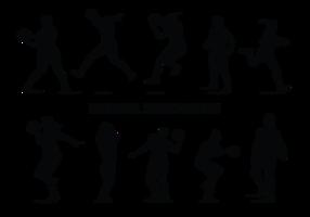 Vettore delle siluette del giocatore di Netball