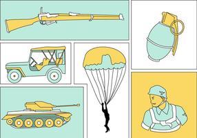 Vettore abbozzato dell'illustrazione di guerra