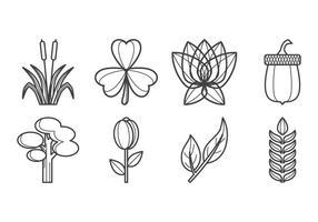 Vettore dell'icona delle piante