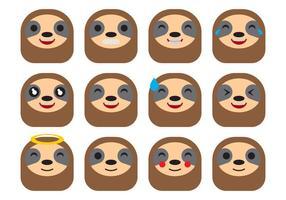 Vettore di emoticon di bradipo di cartone animato gratis