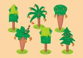 Insieme di vettore dell'albero di mango