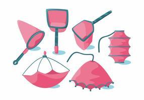 Insieme vettoriale di rete da pesca