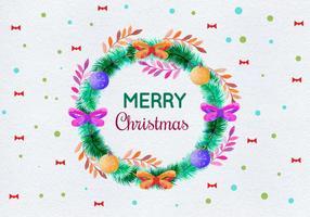 Illustrazione di Natale dell'acquerello di vettore gratis