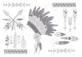 boho set vettoriale nativo