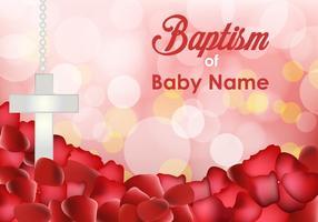 Modelli di invito al battesimo vettore