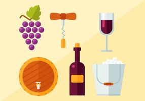Vettore di vino gratuito
