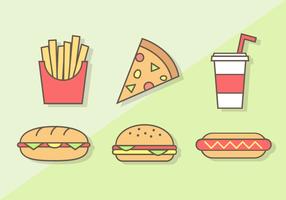 Vettore gratuito di fast food