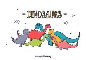 Vettore di dinosauri