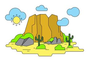 Illustrazione vettoriale del Grand Canyon