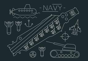 Illustrazione di vettore del portaerei