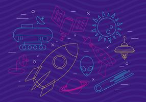 Icone dello spazio funky