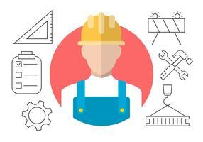 Icone di vettore di costruzione