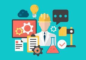 Illustrazione di vettore di affari e tecnologia