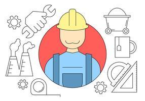 Icone di ingegneria edilizia vettore