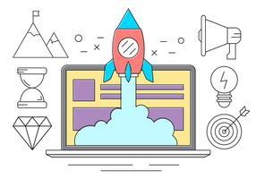 Collezione Startup Vector