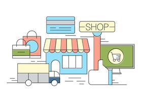 Illustrazione vettoriale di negozio gratuito