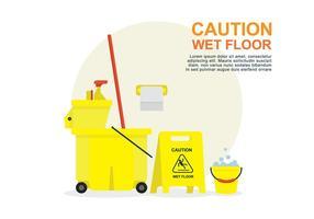 Illustrazione di pavimento bagnato