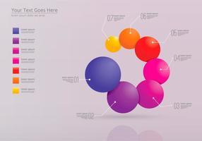 Combina i modelli di infografica vettore