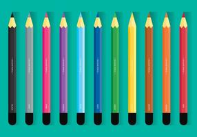 Set di matite colorate vettore