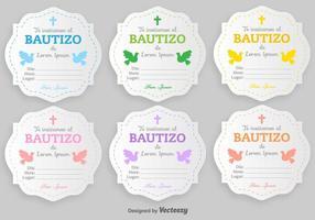 Modello in bianco degli inviti di vettore di Bautizo