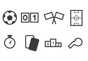 set di icone futsal