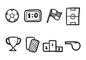 set di icone futsal vettore