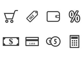 Set di icone dello shopping