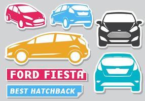 Vettore gratuito di Ford Fiesta Stickers