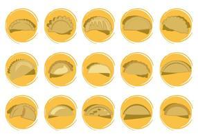 Vettore libero di forme delle icone di Empanadas