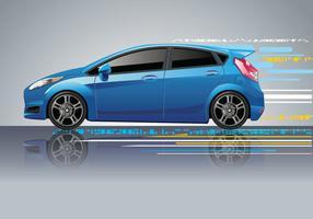 Vettore dell'automobile blu