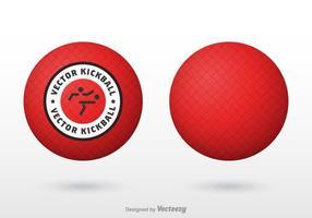 Vector Red Kickball gratuito