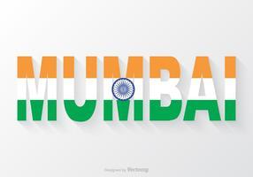 Vector testo di Mumbai