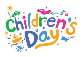 Illustrazione di vettore di giorno dei bambini di divertimento