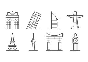 vettore icona del punto di riferimento della città