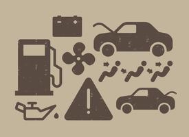Icone di cruscotto dell'automobile vettore