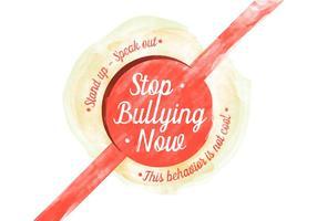 Bullying Free Vector Acquerello