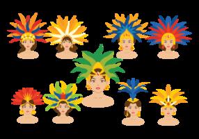 Vettori di ballerina di samba brasiliano