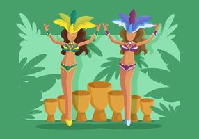 vettore di ballerina di samba