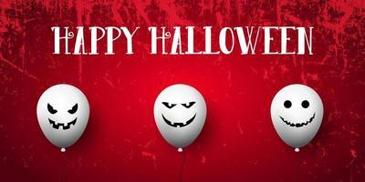 banner di halloween grunge vettore