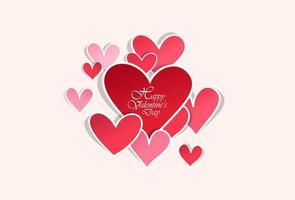 carta da parati di San Valentino con cuori vettore