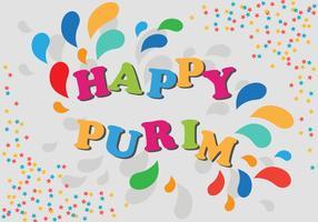 Invito al carnevale di Purim Party Poster vettore