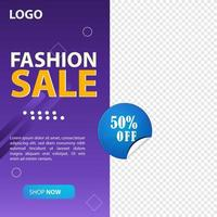modello di post sui social media di vendita di moda moderna