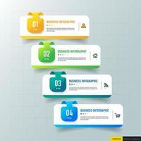 modello di presentazione infografica vettore
