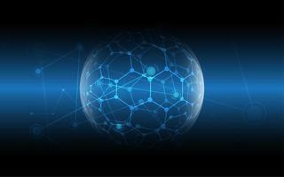 sfondo di tecnologia di connessione di rete globale vettore