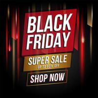 banner promozionale di sfondo vendita venerdì nero