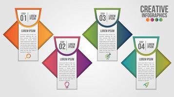 modello di progettazione timeline moderna infografica per le imprese