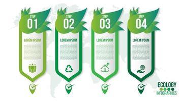ecologia verde ambiente amichevole infografica vettore